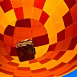 Hot Air Balloon (yellow, orange & red)