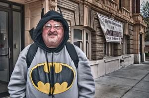 Batman out for a walk