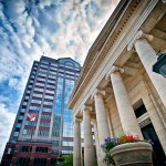 Old Courthouse and Fifth Third Bank buildings Dayton OH