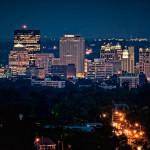 Dayton Ohio skyline, cityscape at night