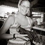 4H animals & people: Girl with rooster