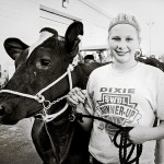 Girl with her cow: At the Fair, 4H