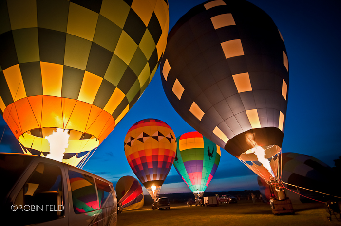 Balloon glow from Balloon Fest in Middletown, OH