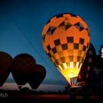 Hot air balloon glow at night with iphone
