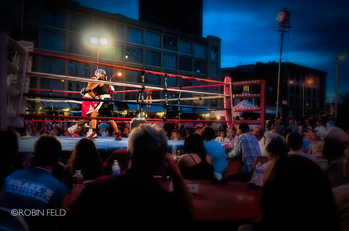 Boxing in Downtown Dayton