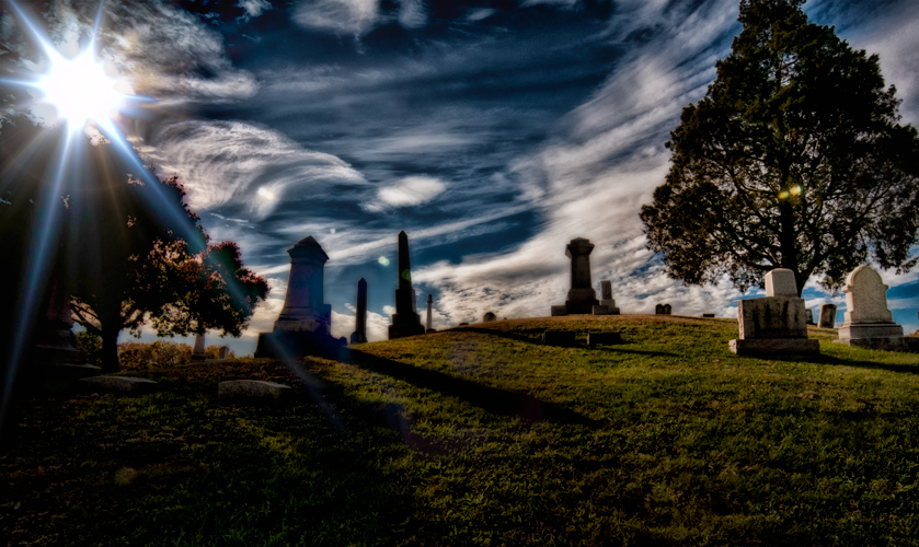Cemetery late afternoon