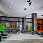 Architectural interior: Kettering Tower lobby