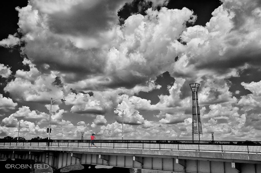 Jogging - across the bridge