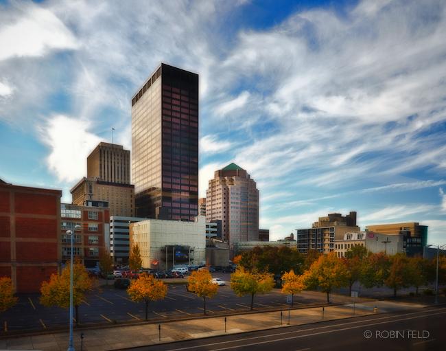 Dayton Skyline East view in autumn