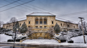 Dayton Art Institute with snow