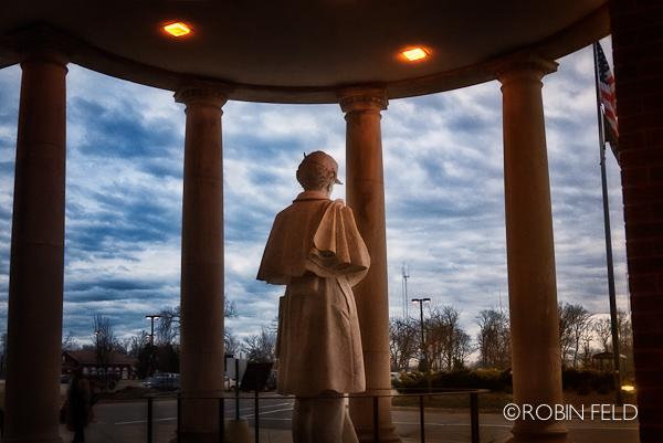 VA Center statue