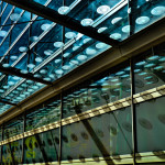 Glass detais of oval on Schuster Center