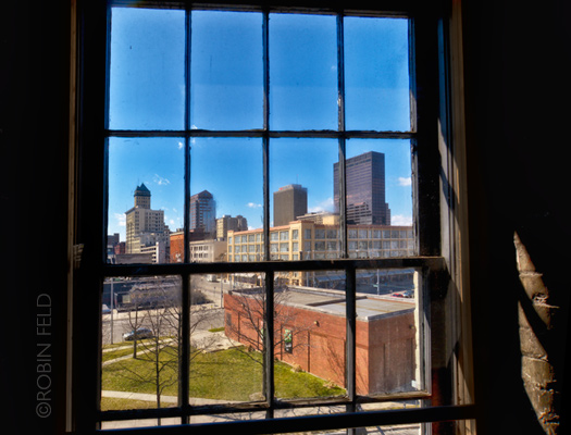 Window view of Dayton Ohio