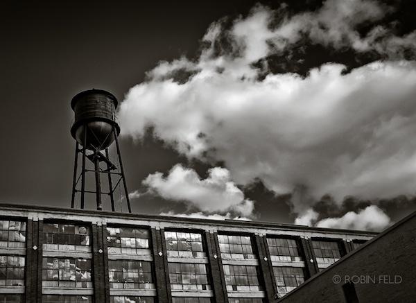Black and white urban photo