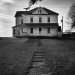 Farmhouse photo in black and white