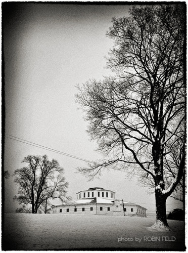 Fairgrounds in the snow