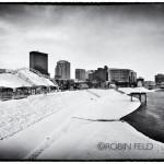 Winter skyline Dayton Ohio