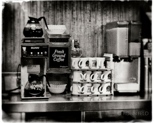 Coffee time, black and white