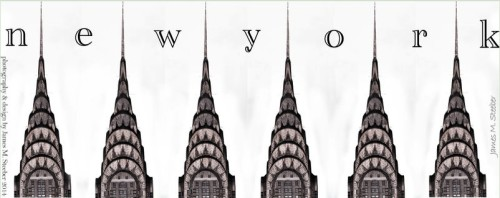 NYC Chrysler Building Art by Steeber