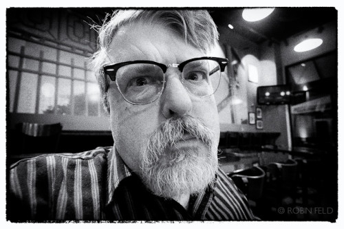 Black and white photo of Brad