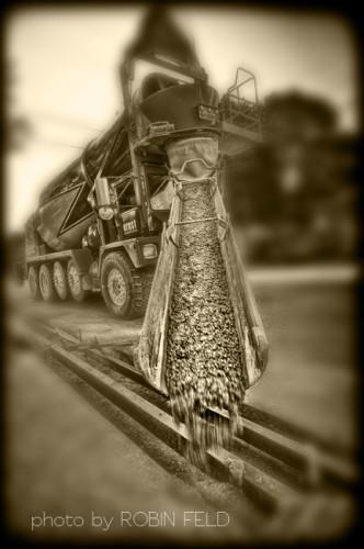 Concrete truck - editorial