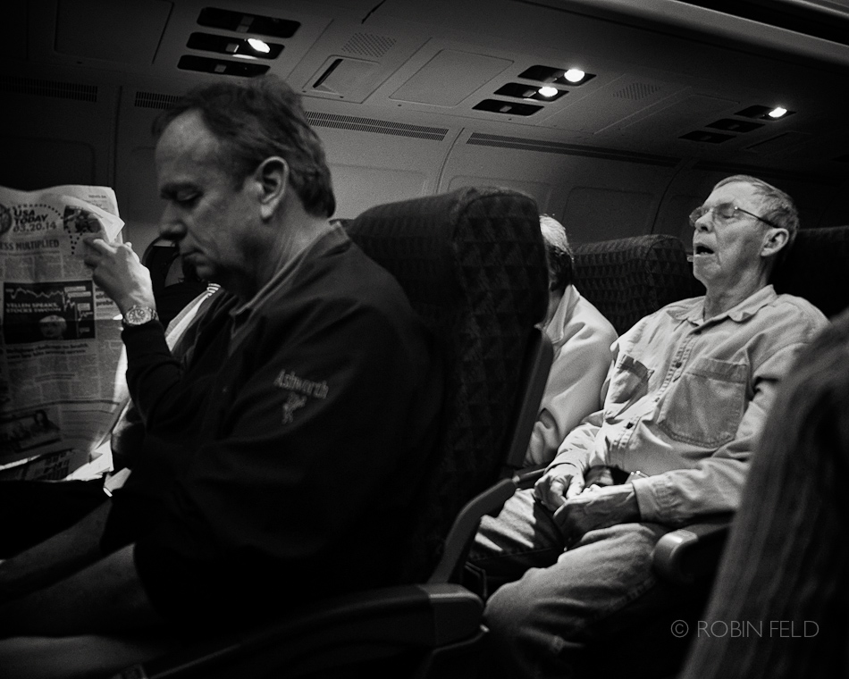 Passengers on long flight