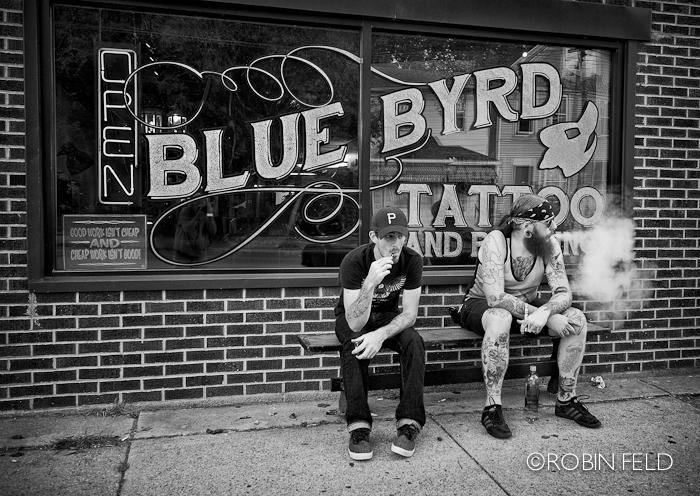 Break at the tatoo parlor