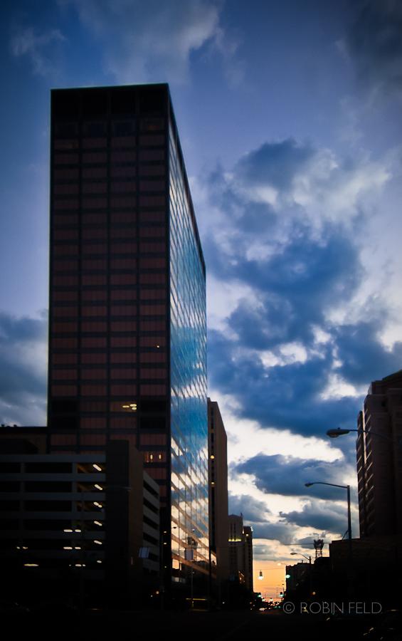 Kettering Tower at sunset, Dayton Ohio