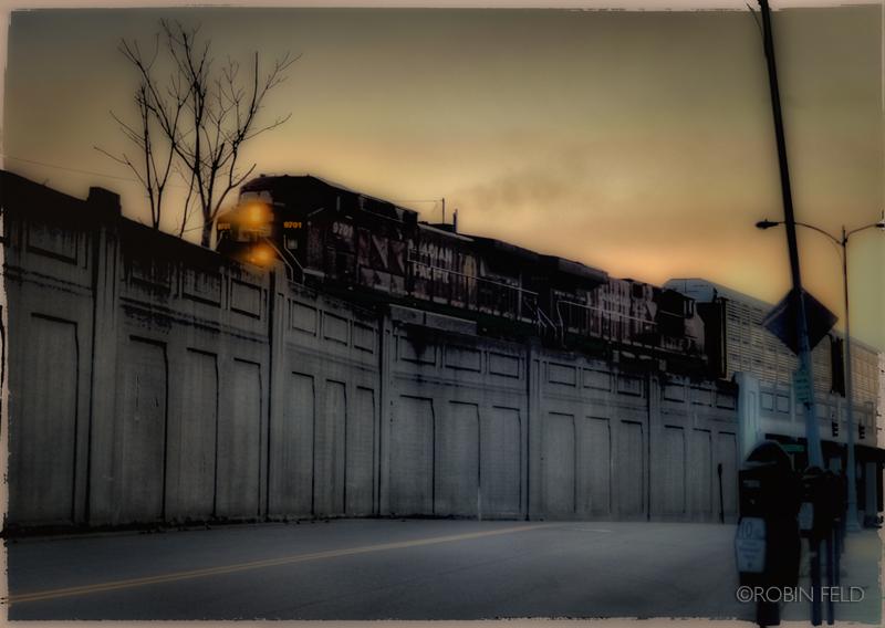 Art photo of train