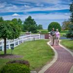 Senior lifestyle photo: walking