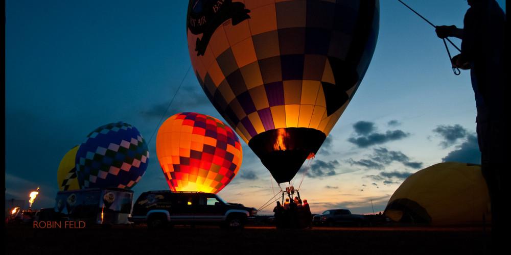 Balloon wrangler at hot-air balloon fest