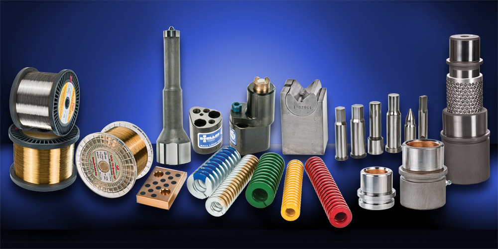 Studio product photo of industrial parts and supplies