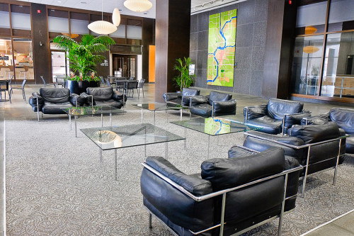 Architectural interior photo of Kettering Tower Lobby
