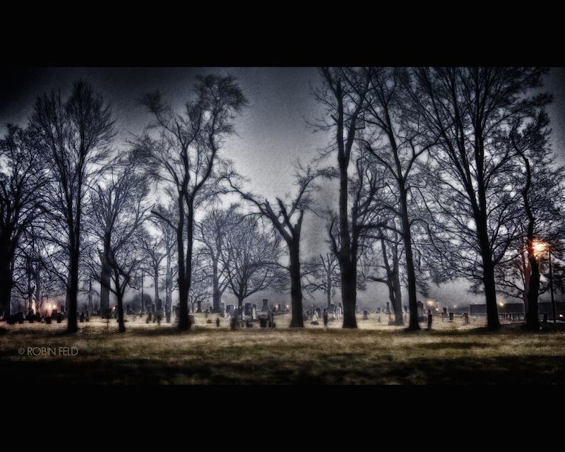 CEMETARY foggy night
