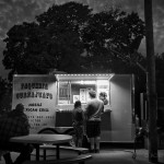 Taco stand at night