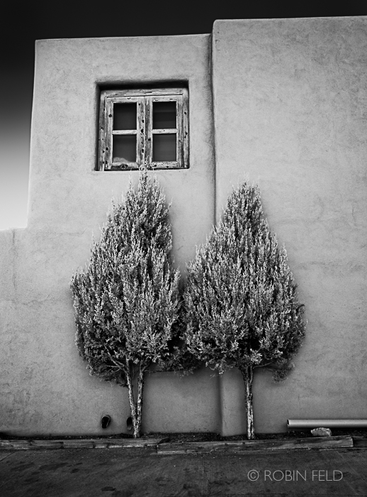 Black and white art print Santa Fe Building
