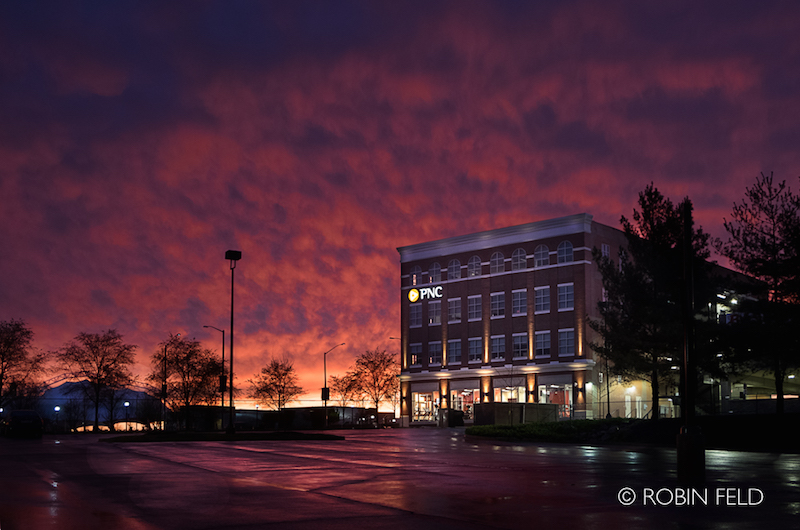 PNC Bank at sunset