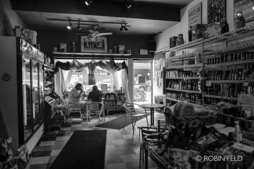 Quiet moment for lunch, bw