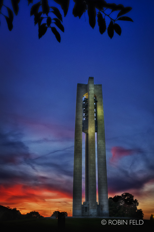 Carillon Bell Tower at sunset, Dayton Ohio