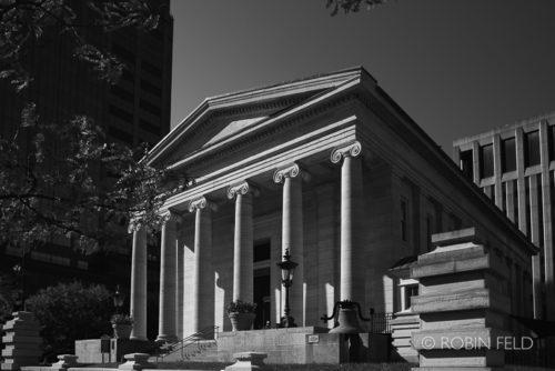 Old Courthouse Dayton Ohio, black and white